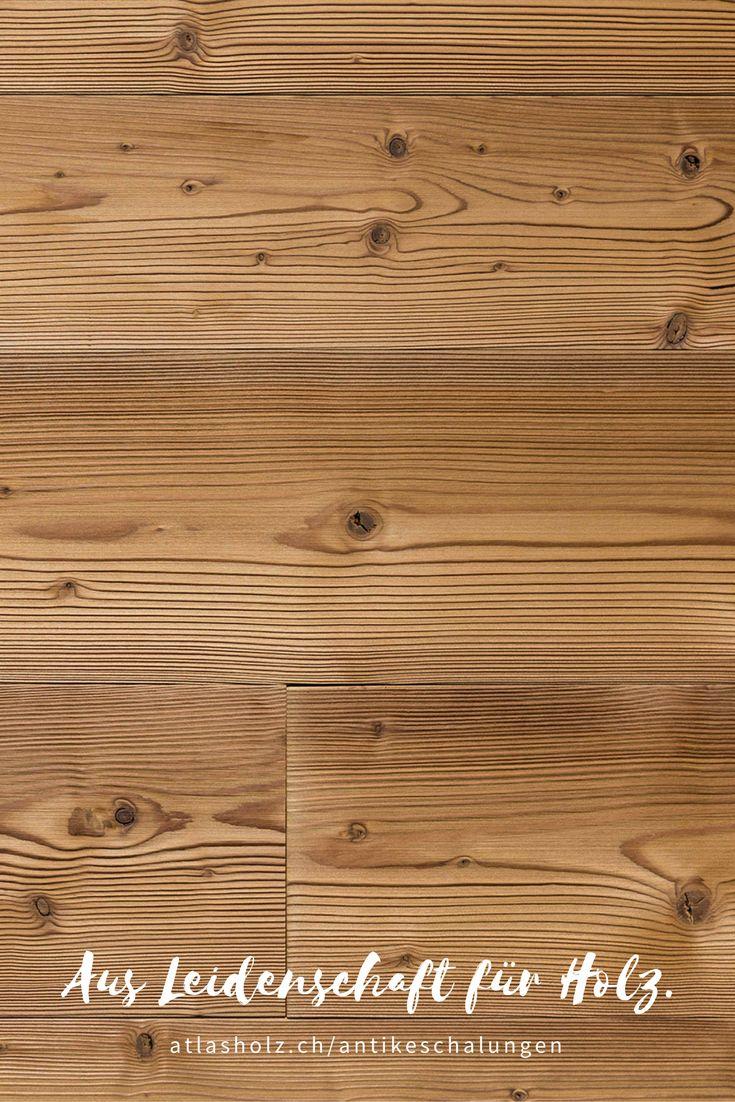 Antike Schalungen Gran Paradiso, nordische Fichte, thermisch behandelt, gebürstet / Wall Panels Gran Paradiso, nordic Spruce, heat-treated, brushed
