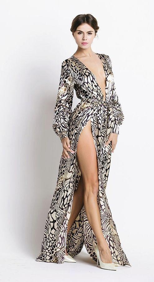 Jesenia Satin Maxi Dress