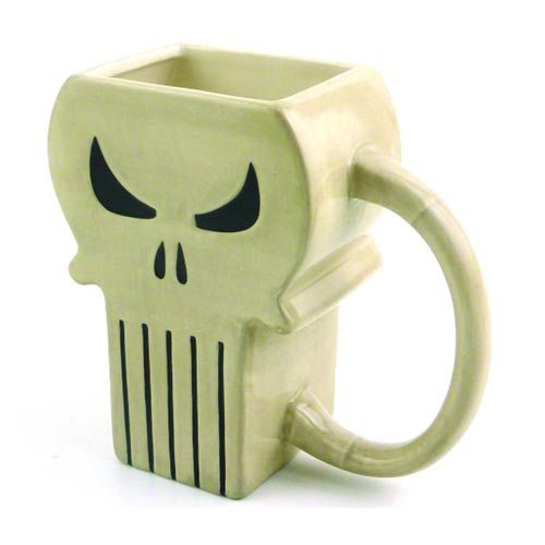Marvel Punisher Symbol Molded Mug - Previews Exclusive - Surreal Entertainment - Punisher - Mugs at Entertainment Earth