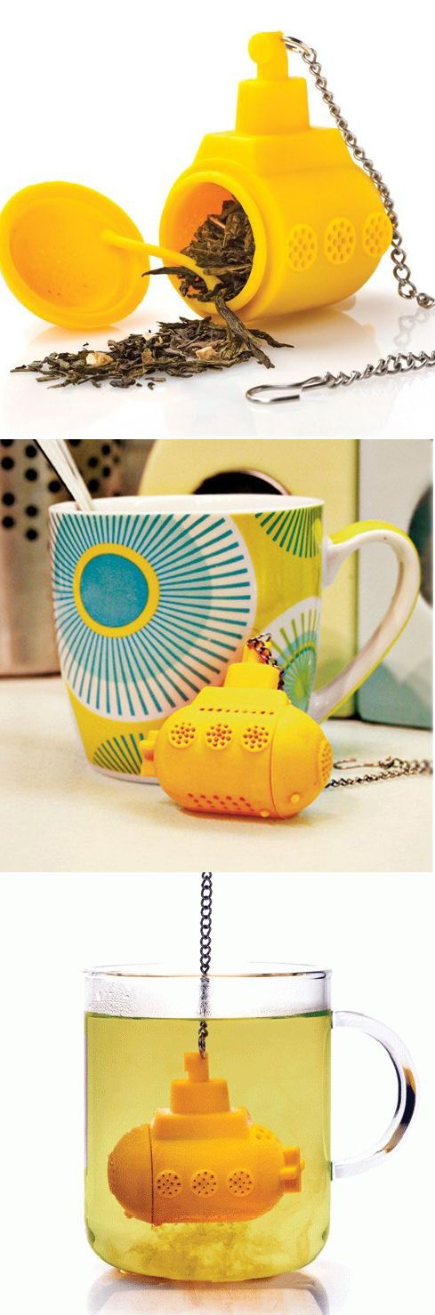 For as much tea as we drink in the GNGF office, this may come in handy. Yellow Submarine // tea infuser