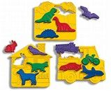 Place & Trace, first puzzles, play dough, tracing, fine motor skills, categories, 2yrs-5 yrs. Discovery Toys  $17.50