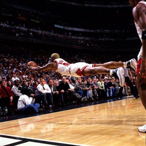 Dennis Rodman - Sacrificing for the Game!
