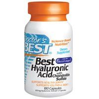Doctor's Best Best Hyaluronic Acid with Chondroitin Sulfate Capsules, 180 Count