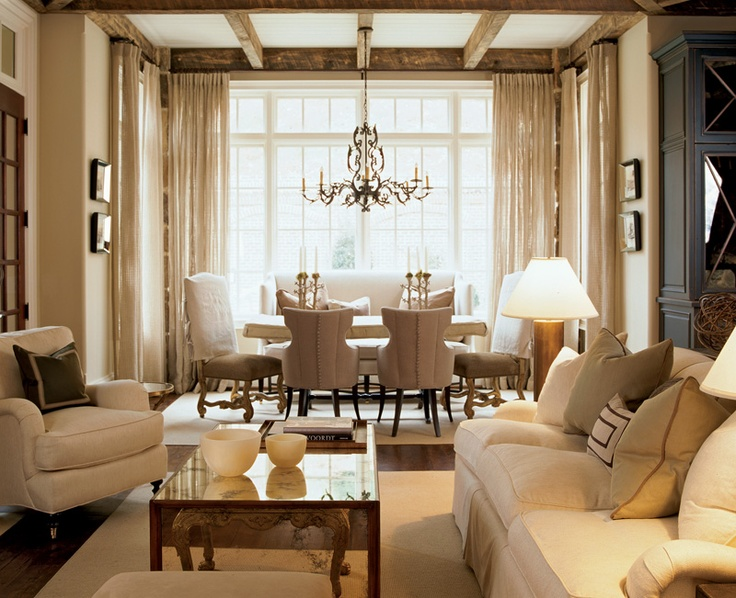 Kelly Wolf Anthony's scheme for a living and dining room. - 66 Best Images About Furniture Layout Ideas On Pinterest Living