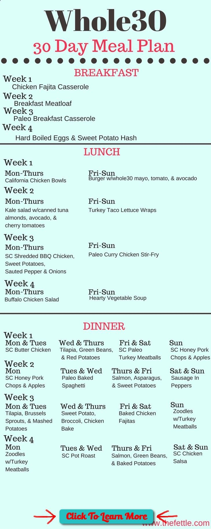 #FastestWayToLoseWeight by EATING, Click to learn more, The Whole30 Meal Plan 30 Days Of Meals the fettle , #HealthyRecipes, #FitnessRecipes, #BurnFatRecipes, #WeightLossRecipes, #WeightLossDiets
