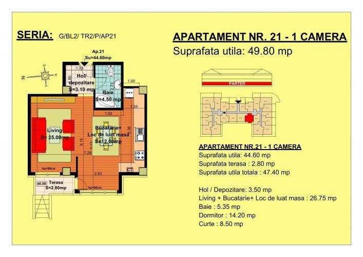 Vand garsoniera, parter, zona Tractorul-Brasov  Situate pe strada Nicolae Labis nr 52, blocurile sunt construite pe un regim de inaltime de P+2 E + Mansarda, cu 2 lifturi si sunt realizate arhitectural cat sa permita acelasi grad de lumina in toate apartamentele.  Acceptam orice forma de plata: Cash, Credit Ipotecar, Prima Casa sau Rate la Dezvoltator.( cu un avans de 10000 euro- 5000 la achizitie si 5000 la mutare, rate de 600 euro, perioada maxima 7 ani) Garsoniera