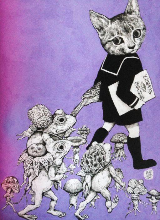 """Illustration by Yuko Higuchi, """"Higuchi Yuko Artworks"""" by Graphicsha. (J)"""