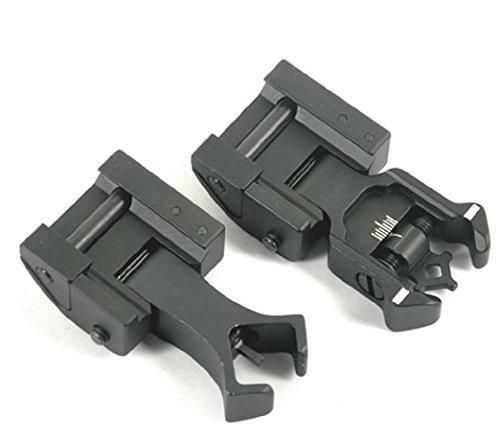 MUDCAT Superior Ar Tactical Flip up Front and Rear Iron Sights Set for Picatinny Rails A2 223 5.56 Colt - $28.23 shipped
