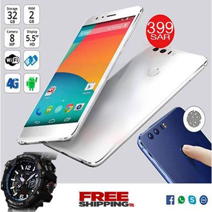 8X PLUS Smartphone,with G Shock Watch ( Colours Available ,gold ,white ) 4G, Android 6.1.1, Quad-Core, 6.0 inch Display, 2GB RAM, 32GB Storage, Dual Camera - 2 MP front 8 MP Back ,HD display8 X Plus Smartphone, 4G, Android 6.1.1, Quad-Core, 6.0 inch Display, 2GB RAM, 32GB Storage Display Type: Touchscreen,FINGER LOCK OPTION  SIM Support: Dual SIM SIM Type: Regular SIM, Micro SIM Data: 4G Battery 3500 Mah ,Best for Gaming  Connectivity: WiFi, GPRS, Radio, Bluetooth, USB With one year…