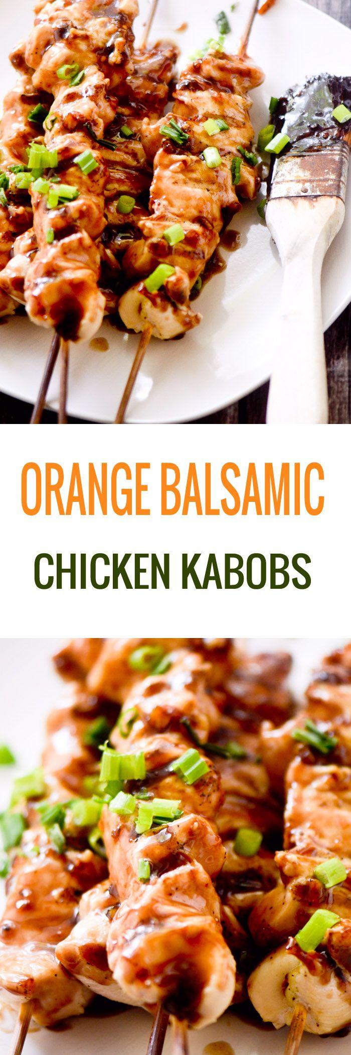 Orange Balsamic Chicken Kabobs - Recipe Diaries