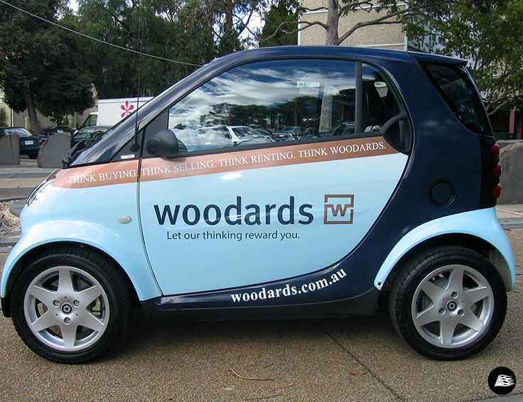 Car Real Estate: Smart Car, Woodards, Real Estate, Smart Vehicle Wrap