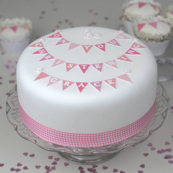 girls christening bunting cake decorating kit by clever little ...