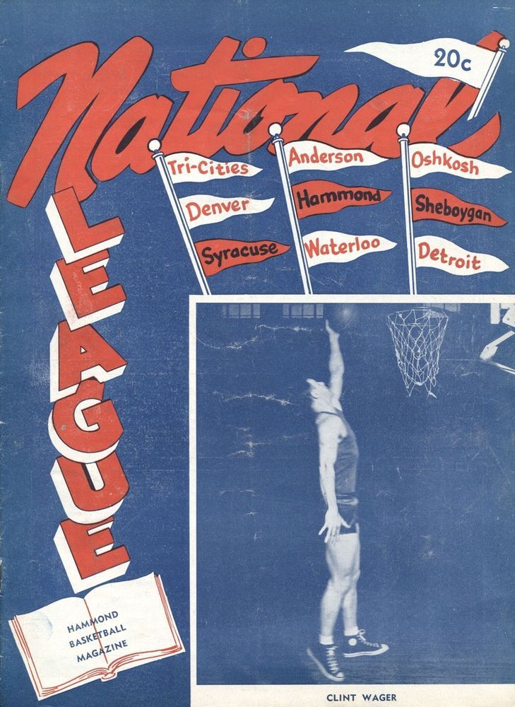 1948 Waterloo Hawks vs Hammond NBL National Basketball League basketball program