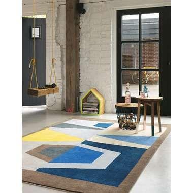 Brink & Campman vloerkleed 78508 Xian Totem - blauw - 140x200 cm