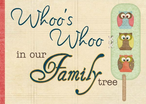 Who's Who Family Tree TEMPLATE: 90290 By Cynthia Coulon 11.5 x 8.5 ...