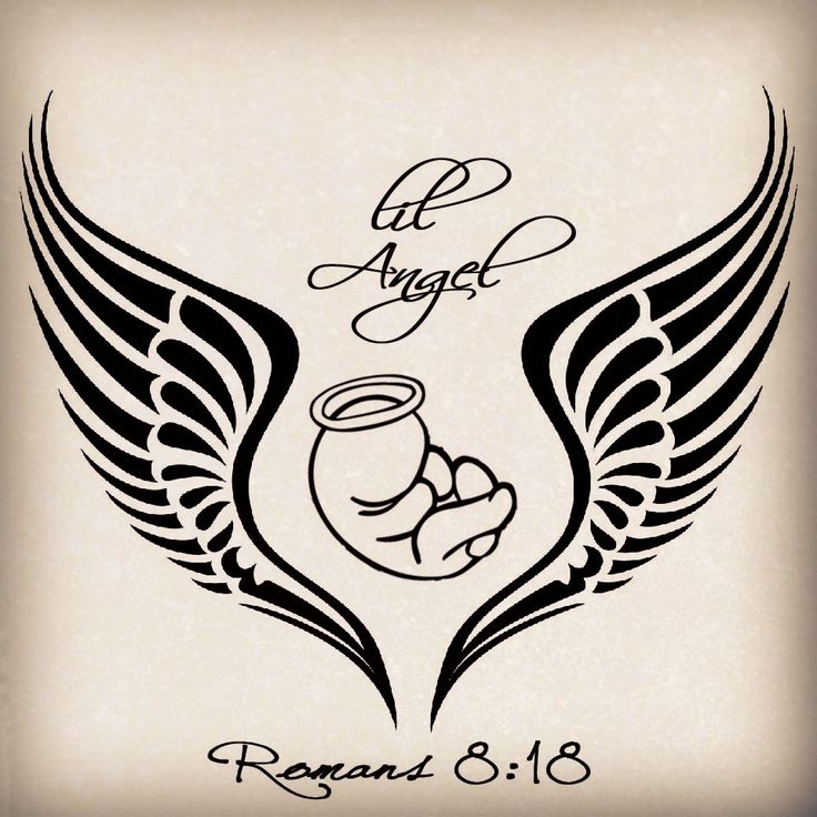 My tattoo design for my angel baby: miscarriage tattoo
