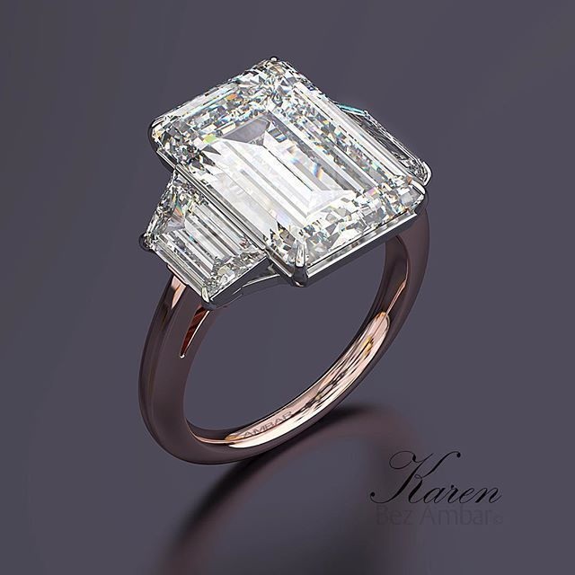 A Beautiful 10 Carat Three Stone Engagement Ring From Bez Ambar For More Information A 10 Carat Diamond Ring Three Stone Engagement Rings Diamond Rings Design