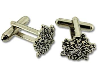 Round Table Manchetknapper fremstillet og leveret hos Jydsk Emblem Farbrik A/S - 125 års erfaring med fremstilling og levering af pins og emblemer. Bliv inspireret online på www.jef.dk.