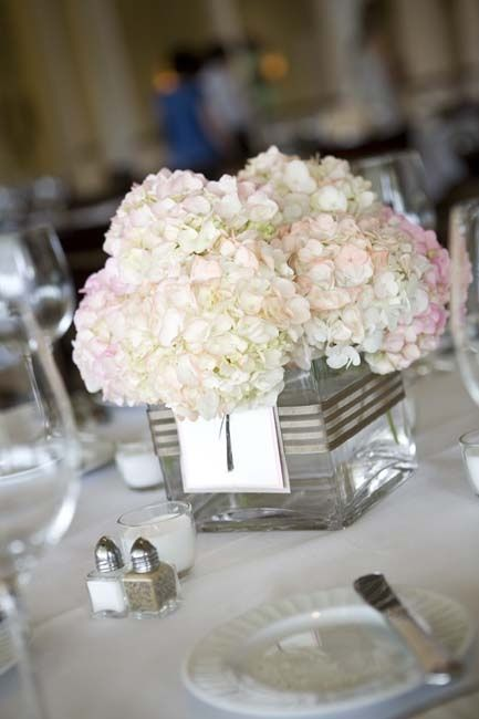 Simple hydrangea centerpiece - Simple hydrangea centerpiece  Repinly Weddings Popular Pins