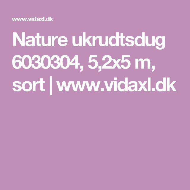 Nature ukrudtsdug 6030304, 5,2x5 m, sort   www.vidaxl.dk
