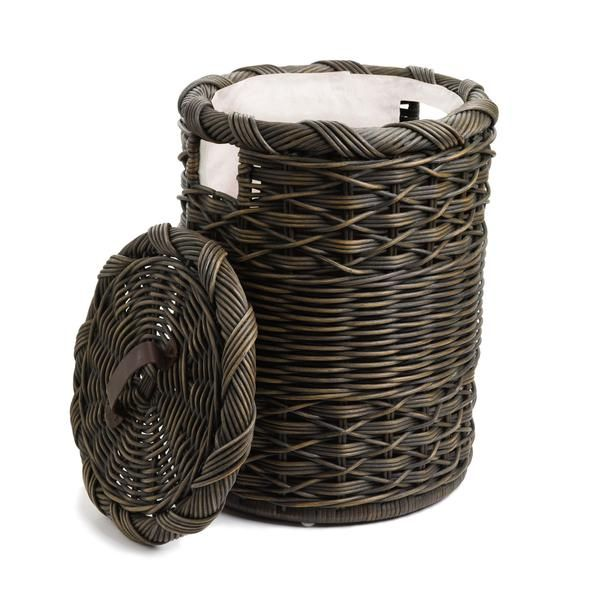 our small round wicker laundry hamper is perfect for those smaller spaces such as dormitories