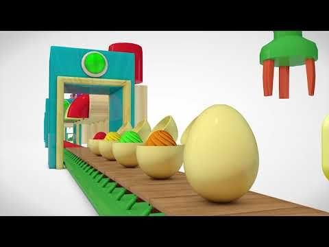 learn color ice cream factory w nursery rhymes surprise eggs for kids