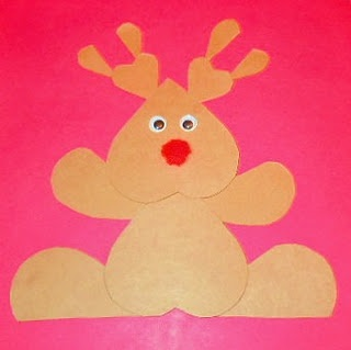 reindeer made with heart shapes