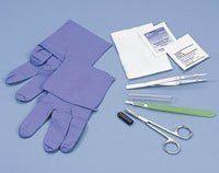 Busse 744 Debridement Tray Sharp Alc Pad PVP Nit Glv Iris Scs Sterile 50/Ca