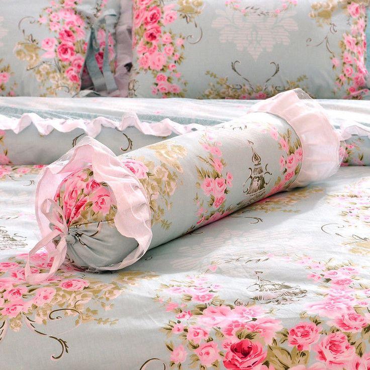 Синий девочек кружевными оборками галстук-бабочка тюль пододеяльник постельное белье