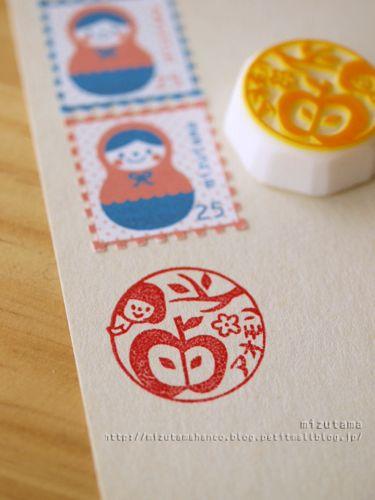 消しゴムはんこ mizutama | hand carved rubber stamps