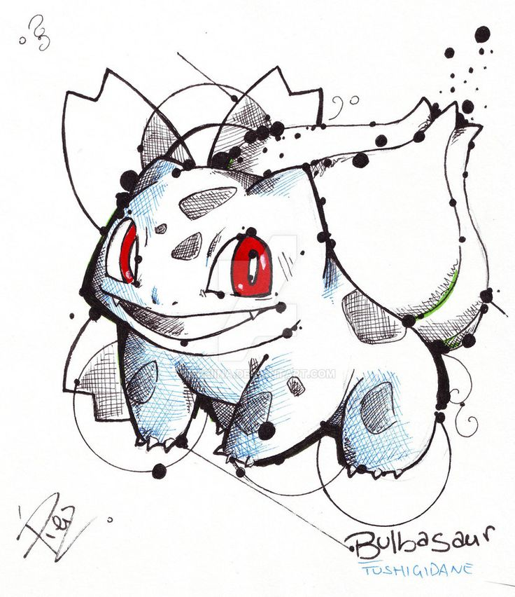 Bulbasaur - Fst Gen Pokemon by eREIina.deviantart.com on @DeviantArt