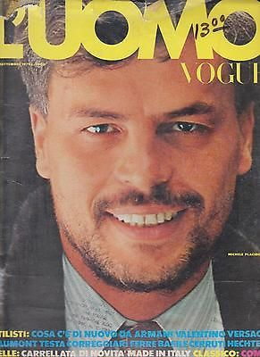 VINTAGE L'UOMO VOGUE SEPTEMBER 1979 MICHELLE PLACIDO JUMBO EDITION