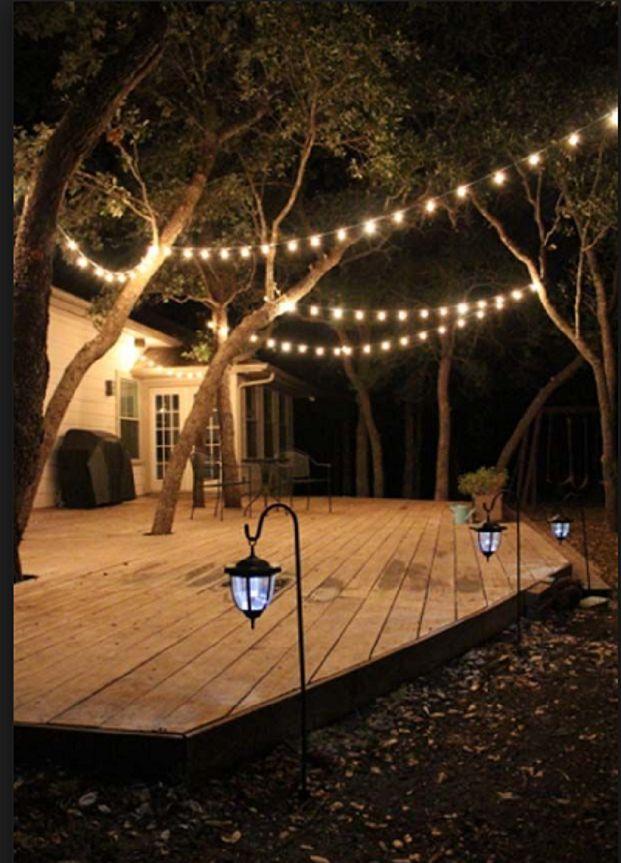 Create Your Dream Backyard Oasis To Relax. Outdoor Deck LightingYard ...