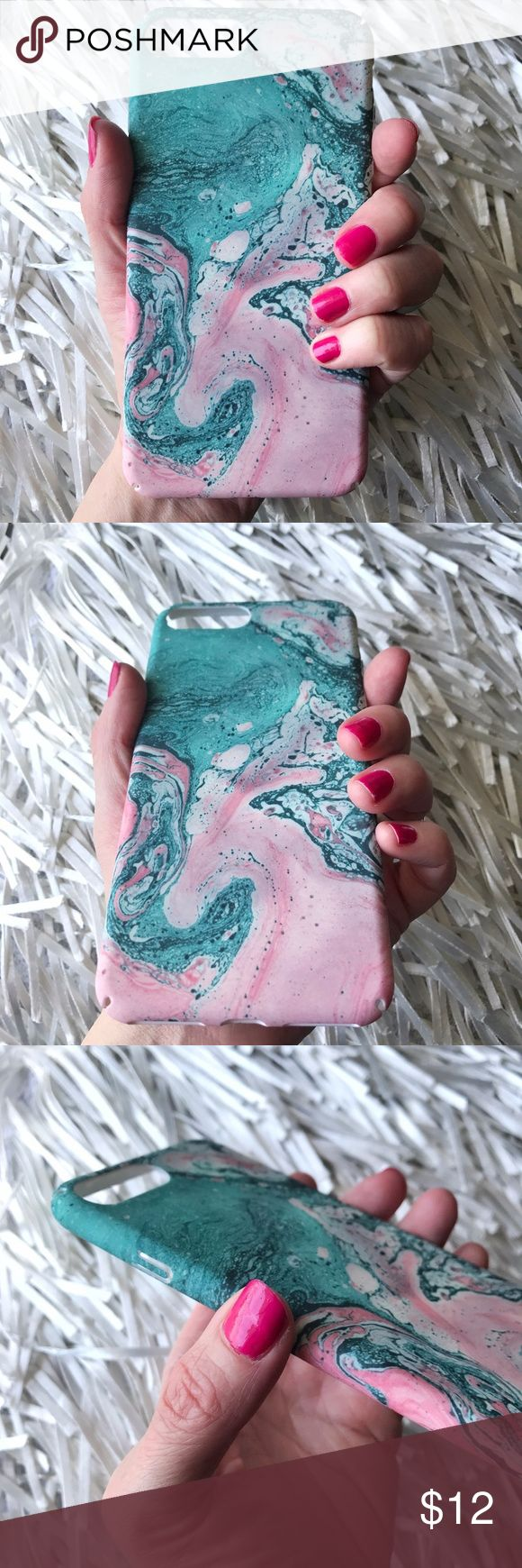 NEW iPhone 7/8 Plus Marble Stone Case Cover ▪️BRAND NEW , Fits iPhone 7 or iPhone 8 Plus Size   ▪️Tough Shock-Resistant Hard PC     ▪️Outer Case Has Lovely Velvet Texture     ▪️Same or Next Day Shipping ! Accessories Phone Cases
