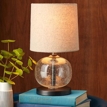 Mini abacus table lamp clear