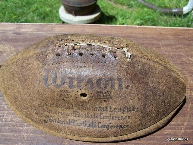 """OFFICIAL WILSON NFL """"PETE ROZELLE"""" LEATHER FOOTBALL ANTIQUE RARE"""