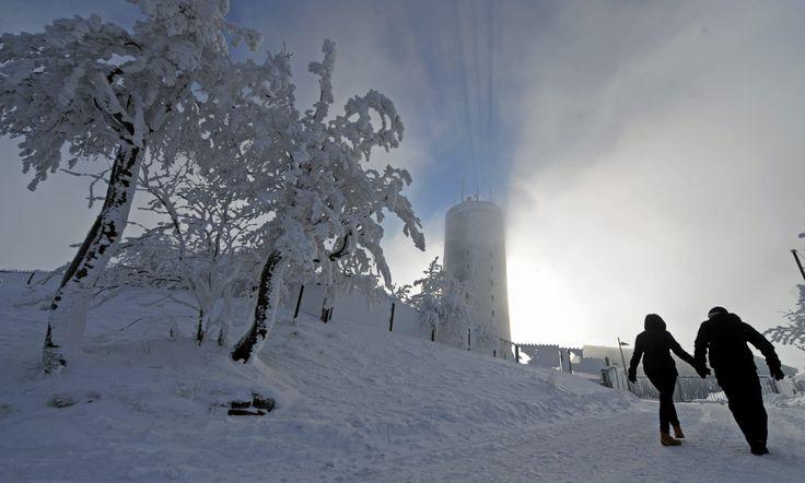 Prächtige Schneelandschaft auf dem #Inselsberg. Foto: Sascha Fromm