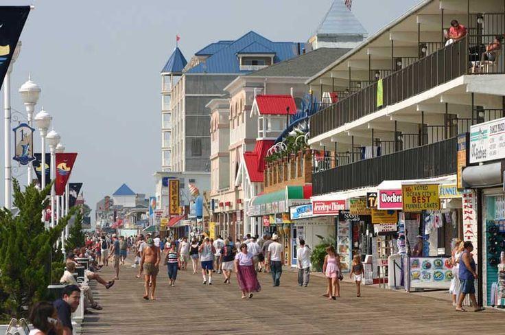 Boardwalk in Ocean City, Maryland