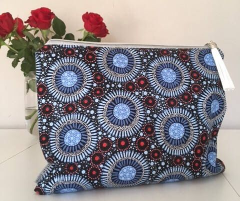 A personal favourite from my Etsy shop https://www.etsy.com/au/listing/522503328/indigenous-clutch-large-ipad-clutch