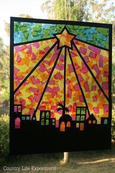 Country Life Experiment: {DIY} Easy Christmas Windows