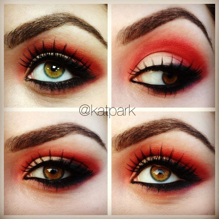 Red eyeshadow... Wow! (Gotta start looking at all this for my Little Red Riding Hood costume... (; )