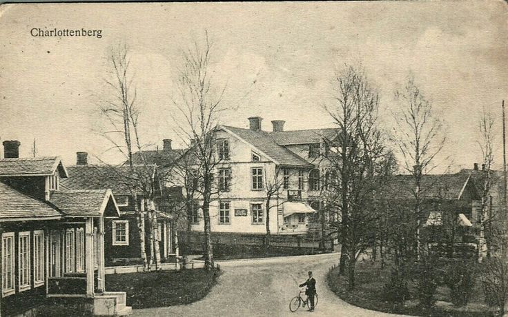 Värmland Eda kommun Charlottenberg vy vid Järnvägsstation Utg Erik Malm tidlig 1900-tallet