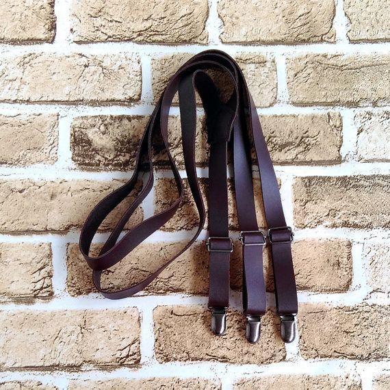 Wedding Suspenders,Groom Wedding Gift,Mens Suspenders,Genuine leather…