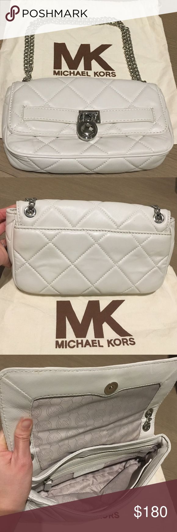 MICHAEL KORS QUILTED SHOULDER BAG MICHAEL KORS QUILTED SHOULDER BAG. WORN ONCE. STILL IN GREAT CONDITION. SUPER CLEAN ON THE INSIDE. COMES WITH DUST BAG Michael Kors Bags Shoulder Bags