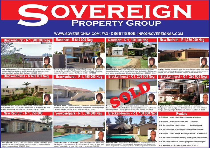 Sovereign Property Group  Selection of houses, townhouses and clusters for sale in Alberton for sale and for rent by Sovereign property Group. Contact us on 084 587 5535 or 082 378 3908