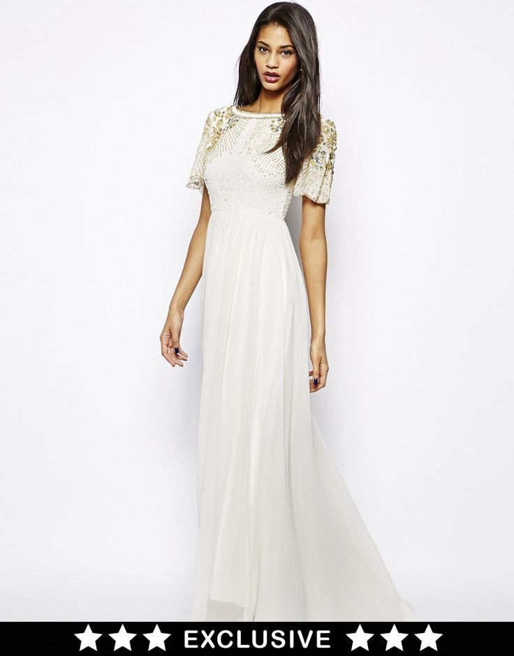 Image 1 of Virgos Lounge Raina Maxi Dress with Embellished Shoulder