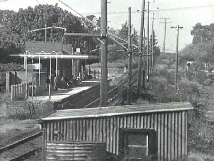 Miranda Railway Station in the Sutherland Shire of Sydney in the 1960s. •Sutherland Library•