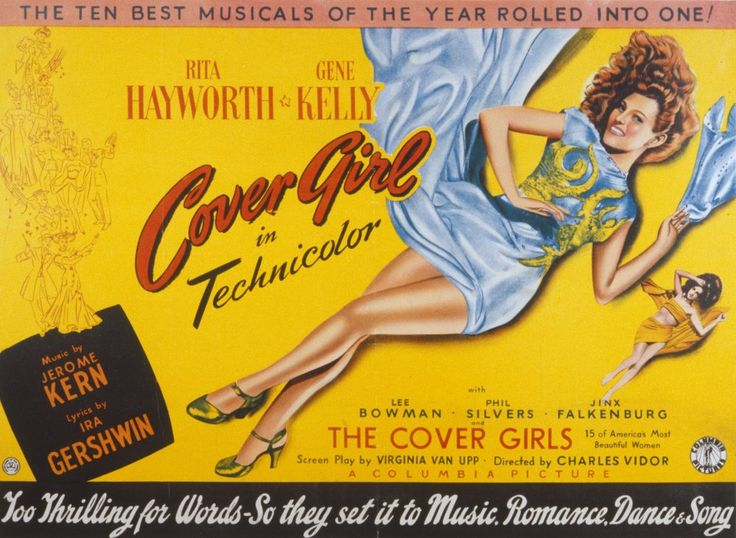 Cover Girl (1944), director Charles Vidor. Loyalty is tested as top-form Hayworth swaps Gene Kelly's Brooklyn club for Broadway fame via Vanity magazine. Hayworth positively gleams, doubles as her character Rusty's grandmother and dances like a dream in the sockeroo title number. With Phil Silvers making it an ebullient song'n'dance trio, astringent Eve Arden, Jerome Kern-Ira Gershwin songs and more millinery than you can shake a stick at, it's the finest musical Hayworth made.