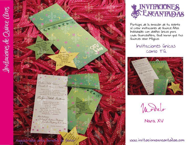 Invitacion de Sobre con diseño de estrellas y lunas | tarjetas ...