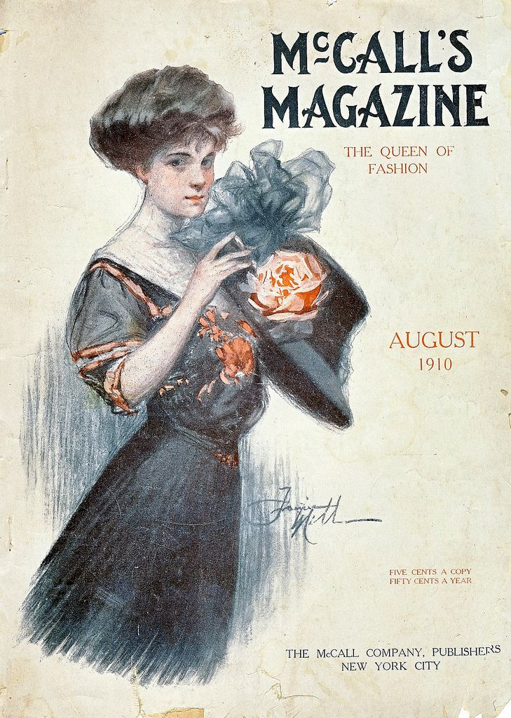 August 1910 mccalls with images magazine art vintage